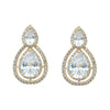 Jesse Bridal Earrings (Gold) - Earrings - Classic Short Drop - Roman & French