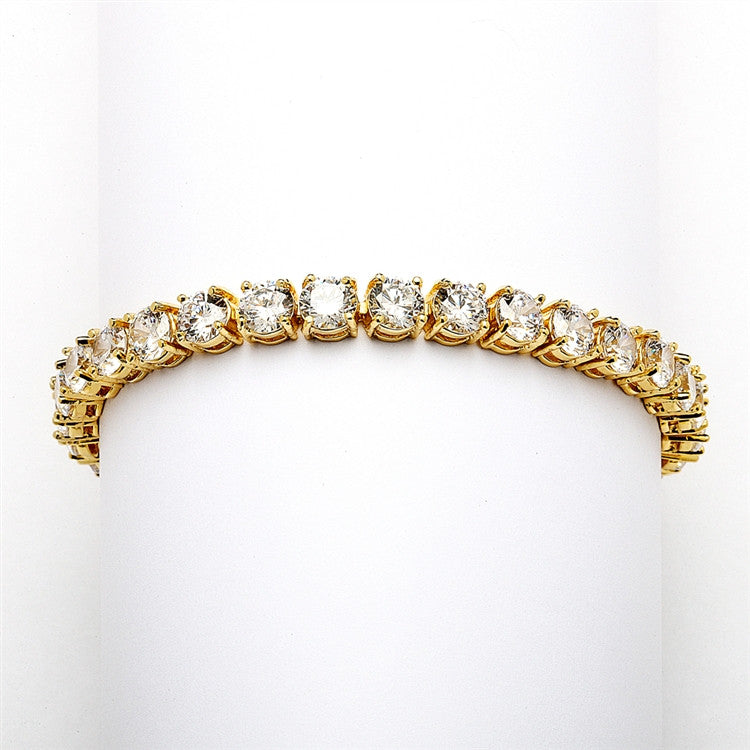 Jina Bridal Bracelet - Gold (Petite) - Roman & French