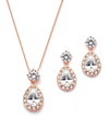 Joanne Necklace & Earring Set Rose Gold