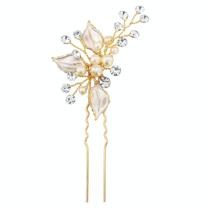 Kayla Bridal Hair Pin (Gold)