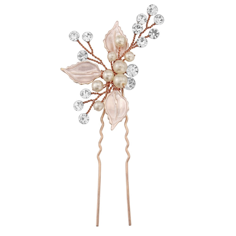 Kayla Bridal Hair Pin (Rose Gold)