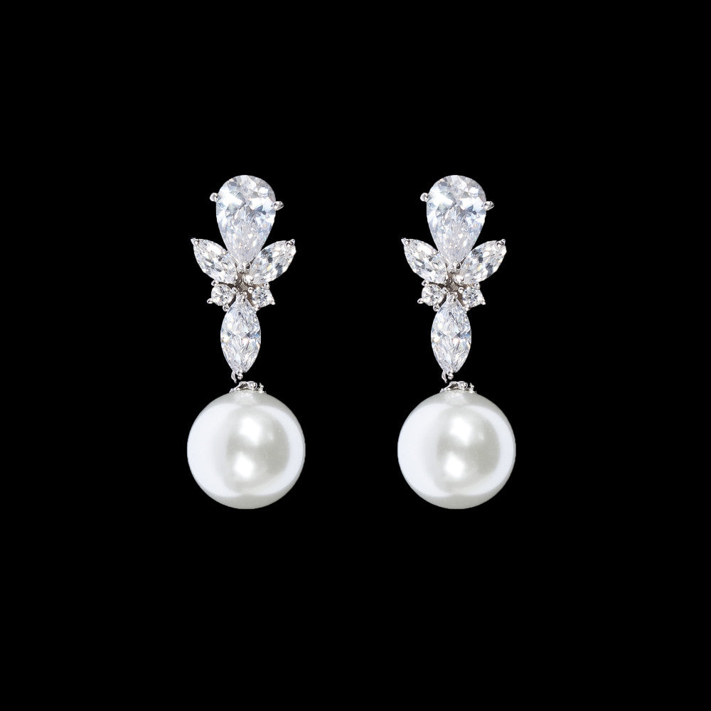 Kelly Bridal Earrings - Roman & French