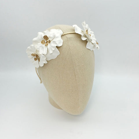 Leyla Bridal Headpiece (Ivory) - Roman & French