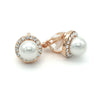 Liana Bridal Earrings Clip On - Rose Gold - Roman & French