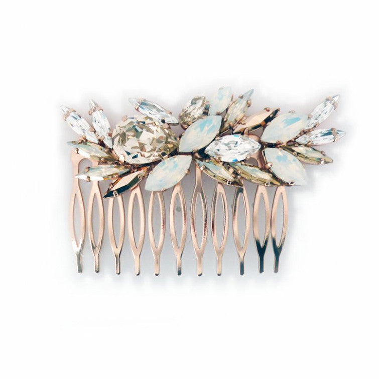Limni Bridal Hair Comb - Rose Gold - IN STOCK READY TO SHIP - Roman & French  - 1