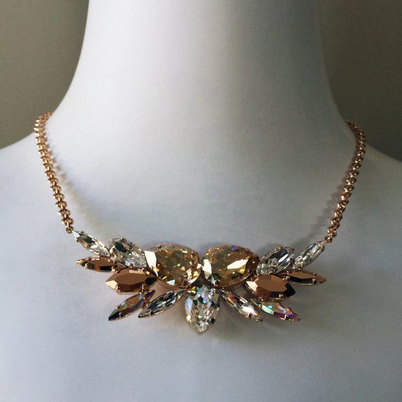 Limni Necklace - Bridal Necklace - Roman & French