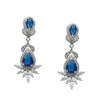 Litzy Bridal Earrings (Royal Blue) - Roman & French