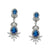 Litzy Bridal Earrings (Royal Blue)