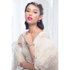 Marsala Ostrich Feather Bridal Cape - Roman & French