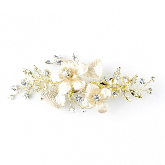 Martina Bridal Hair Clip - Roman & French