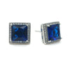 Maura Bridal Earrings - Blue - Roman & French