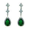 Meaux Earrings (Green) - Roman & French