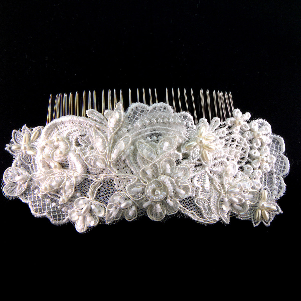 Melania Bridal Headpiece - Hair Accessories - Hair Comb - Roman & French