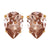 Mia Bridal Earrings (Rose Gold)