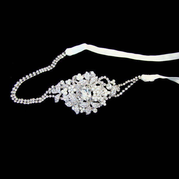 Mia Bridal Headband - Hair Accessories - Headbands,Tiara - Roman & French