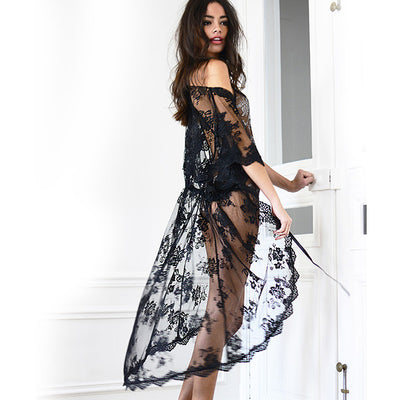 Midnight in Paris Robe - Bridal Lingerie - Robe - Roman & French