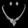 Mimi - Bridal Earrings  & Necklace Set - Necklace & Earring Set - Roman & French