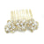 Minnie Bridal Hair Comb - Gold