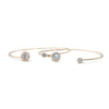 Mira Bridal Bracelet - Light Rose Gold - Roman & French