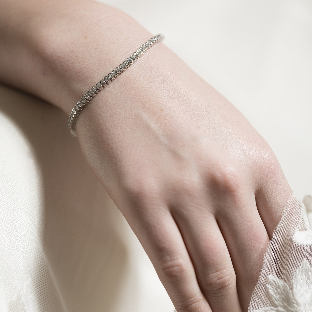 Misty Bridal Tennis Bracelet - Customisable length - Swarovski - Bracelet Wedding - Roman & French