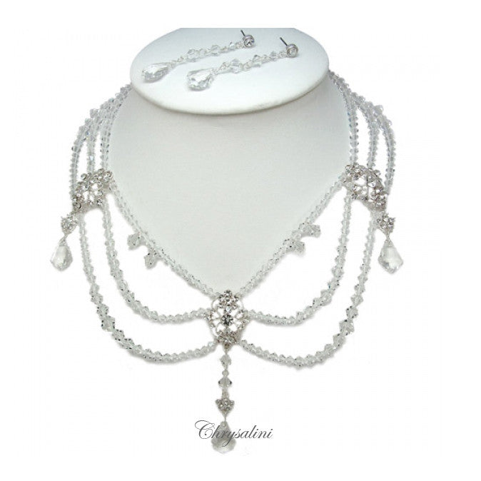 Gap Bridal Necklace Set - Necklace & Earring Set - Roman & French