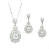 Nerissa - Bridal Necklace and Earring Set - Roman & French  - 1