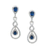 Niesha Earrings - Dark Blue - Roman & French