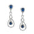 Niesha Earrings - Dark Blue