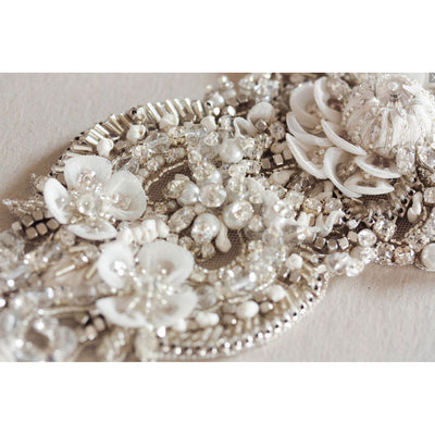 Octavia - Bridal Sash - Couture - Bridal Sash - Roman & French