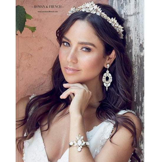 Olympia Bridal Crown - Genuine Swarovski - Hair Accessories - Tiara & Crown - Roman & French