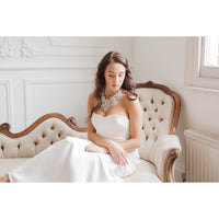 Priscilla Bridal Statement Necklace - Couture - Roman & French  - 1