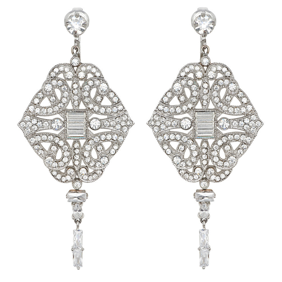 Paris Chandelier Bridal Earrings - Earrings - Long Drop - Roman & French
