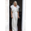 Plume Wedding Dress Bolero in Snow - Roman & French  - 1