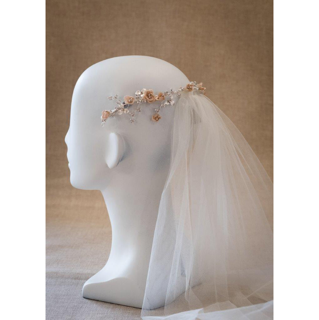 Polly Bridal Headband - Hair Accessories - Headbands,Tiara - Roman & French