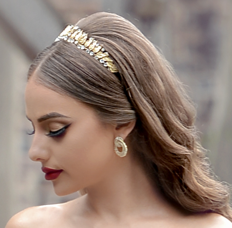 Joanna Bridal Crown - Gold - LAST ONE