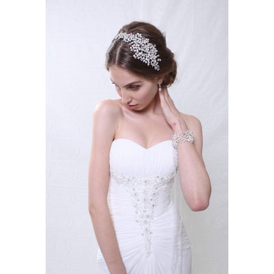 Alba Bridal Headband - Hair Accessories - Headbands,Tiara - Roman & French