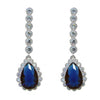 Raquel Earrings (Blue) - Roman & French