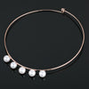 Roma Bridal Necklace (Rose Gold) - Roman & French