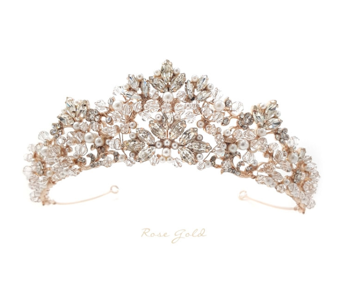 Rosabelle Bridal Crown (Rose Gold)