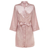 Rosie - Rose Blush Satin Robe (Personalised)
