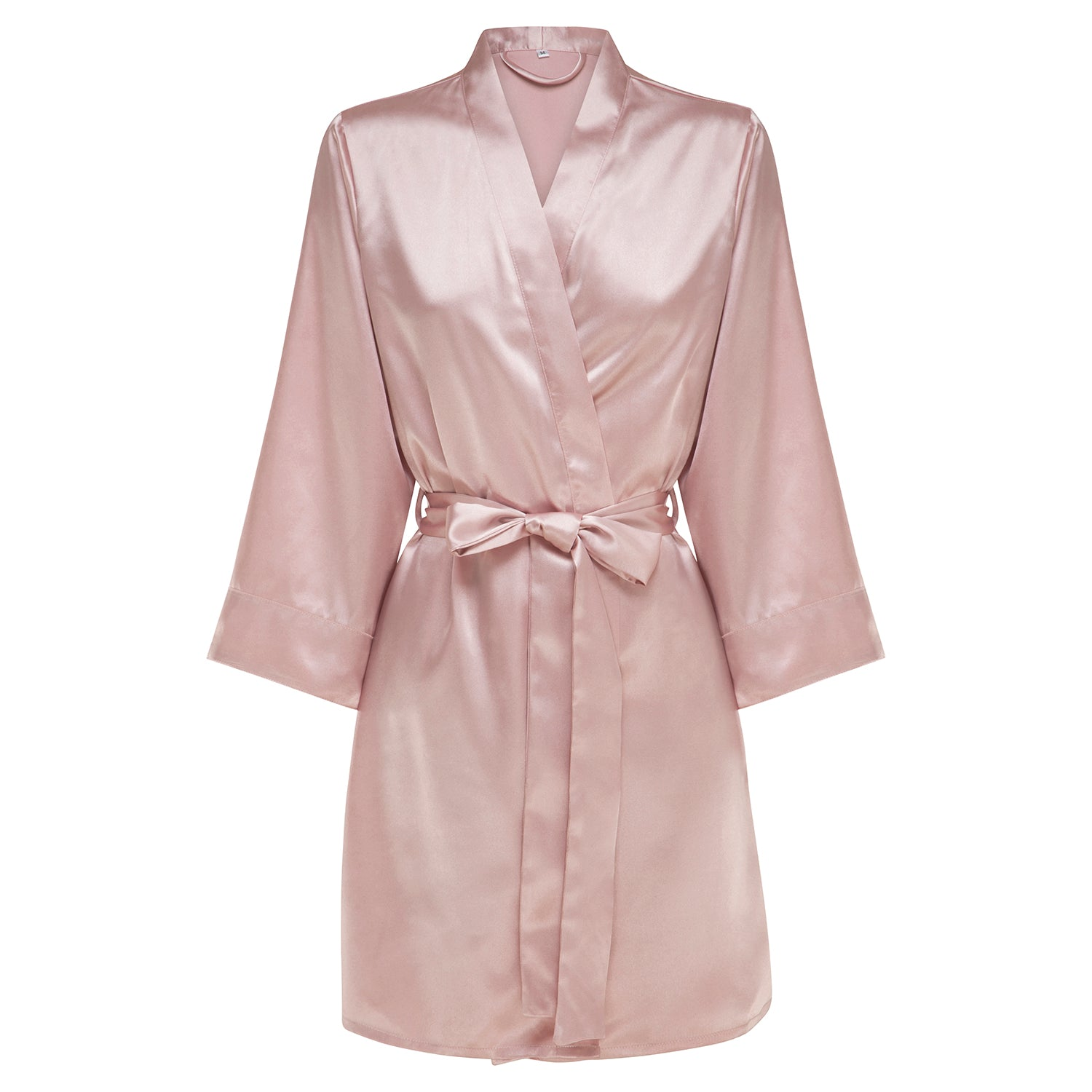 Rosie - Rose Blush Satin Robe