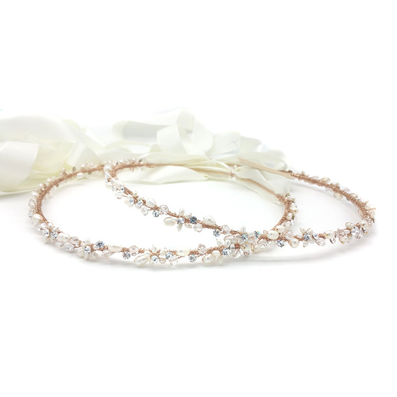 Stephanie Bridal Stefana Crown (Rose Gold) - set of 2 - Hair Accessories - Stefana - Roman & French