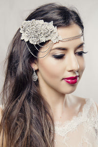 The Amanda Bridal Halo - Roman & French  - 2