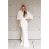 Plume Wedding Feather Jacket in Snow - Bridal Cover-Up - Couture - Roman & French