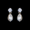 Twinkle Pealr Bridal Earrings - Roman & French