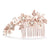 Valeria Bridal Hair Comb - Rose Gold