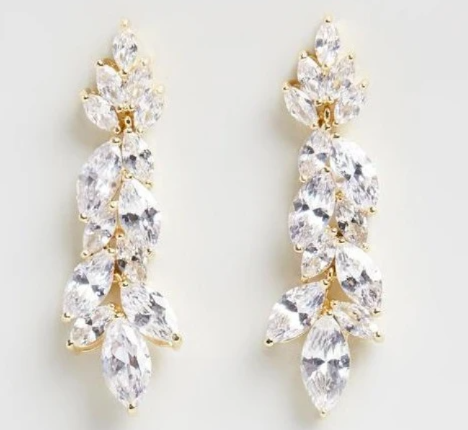 Allure Bridal Earrings - Gold