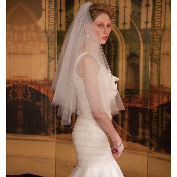 Audrey Bridal Veil - Veils - Couture - Roman & French