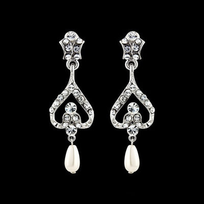 Alana Bridal Earrings - Earrings - Long Drop - Roman & French