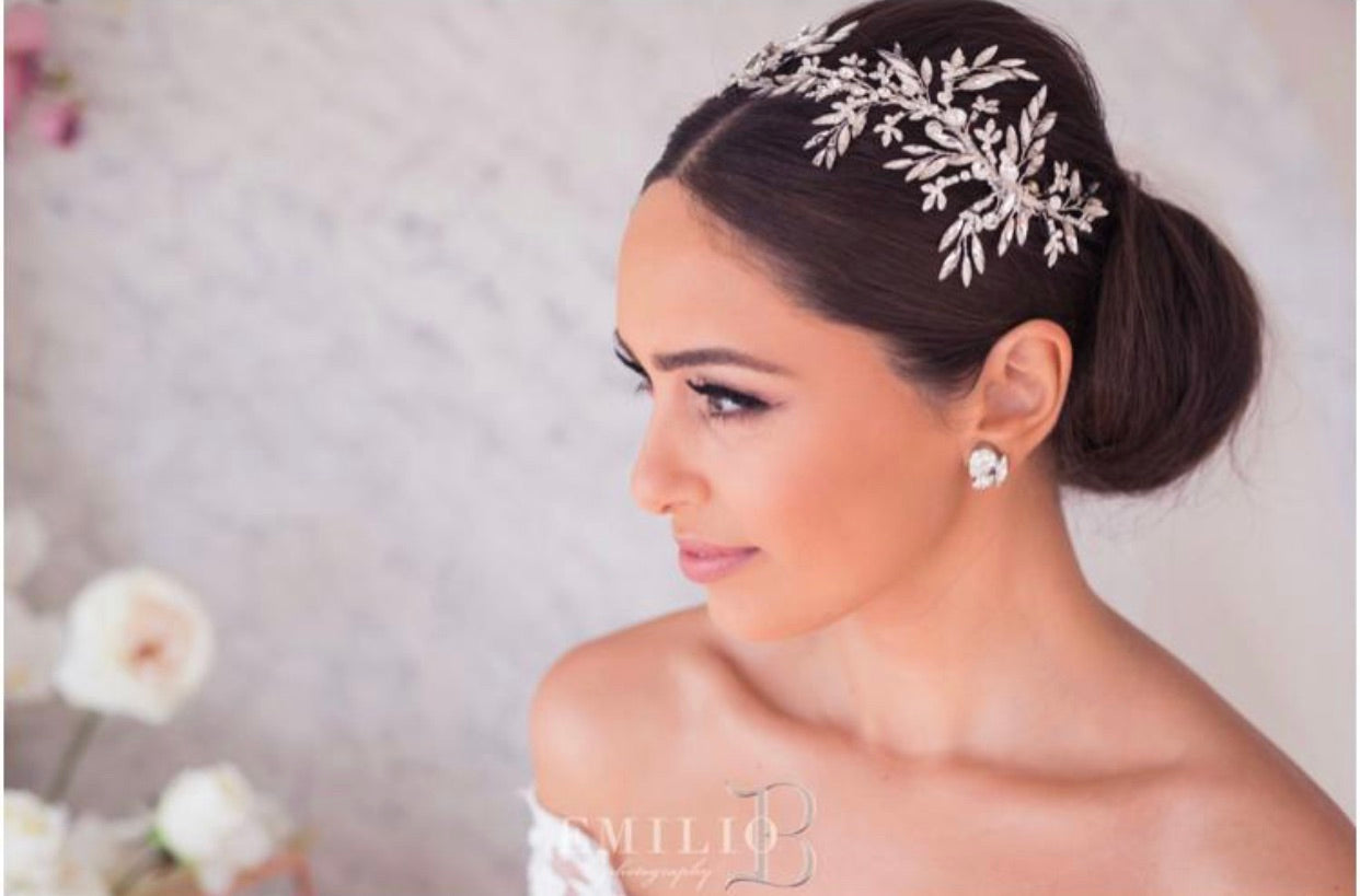 Louisa Bridal Headpiece Set - CUSTOM ORDER AVAILABLE TO MAKE